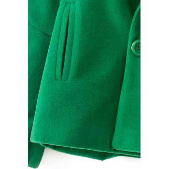 Simple Style Lapel Collar Long Sleeve Solid Color Worsted Women's Coat - XL XL
