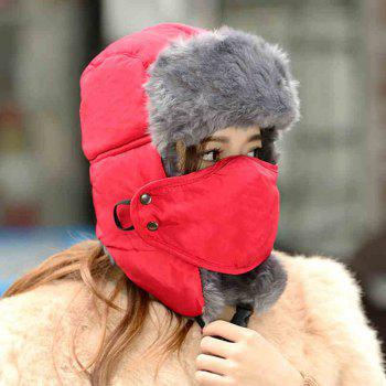 2 in 1 Keep Warm Hat Lei Feng Cap Respirator Mask for Winter Outdoor Activities -  GRAY