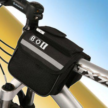 BOI Multiple Pocket Saddle Bag Phone Pack Mountain Bike Bicycle Motorcycle Accessories - BLACK BLACK