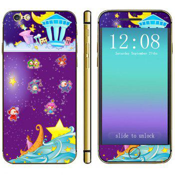 Anti-scratch Phone Sticker Decal Skin with Star Girl Style for iPhone 6 - 4.7 inches