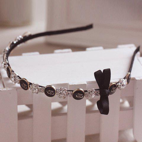 Chic Rhinestone and Bowknot Embellished Women's Hairband -