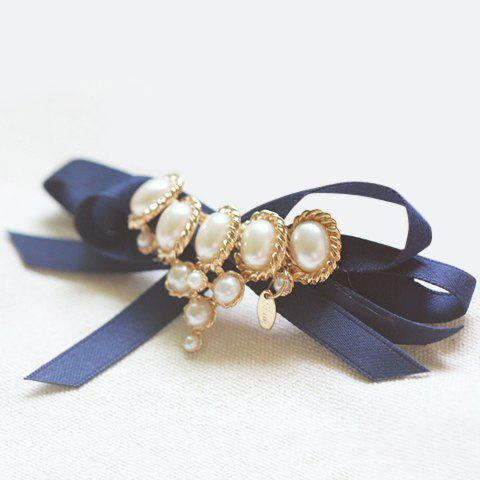 Chic Faux Pearl Embellished Women's Hairpin - DEEP BLUE