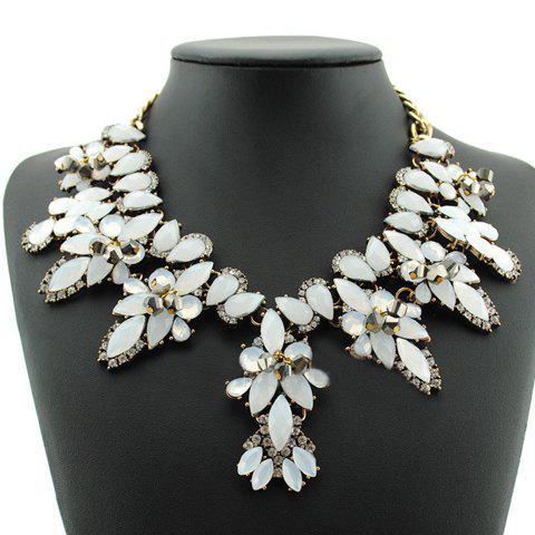 Stylish Gorgeous Women's Colored Beads Necklace - WHITE