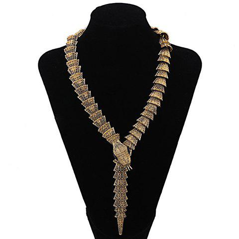 Retro Chic Women's Solid Color Snake Shape Necklace - AS THE PICTURE