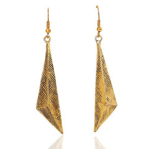 Pair of Triangle Earrings - GOLDEN
