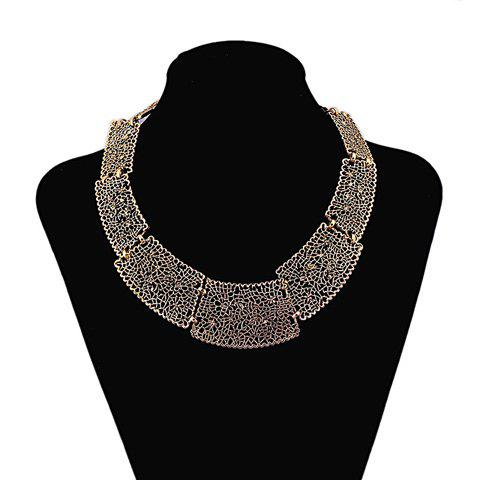 Stylish Solid Color Special Shape Openwork Women's Necklace