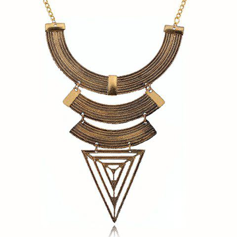 Geometric Shape Pendant Necklace - AS THE PICTURE
