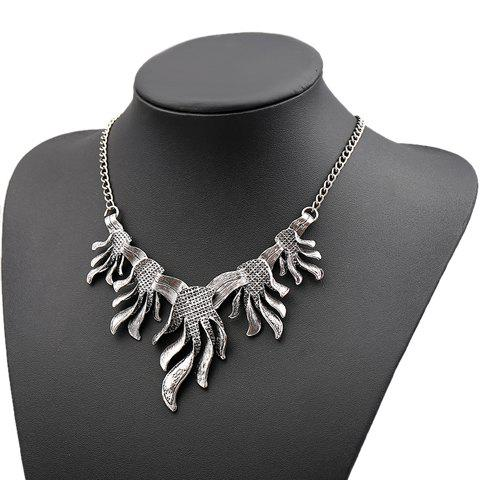 Sophisticated Solid Color Special Shape Necklace For Women - SILVER