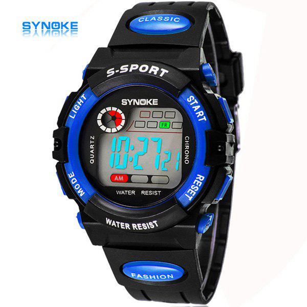 Synoke Christmas Gift LED  Military Watch Week Stopwatch Alarm Date for Kids - BLUE