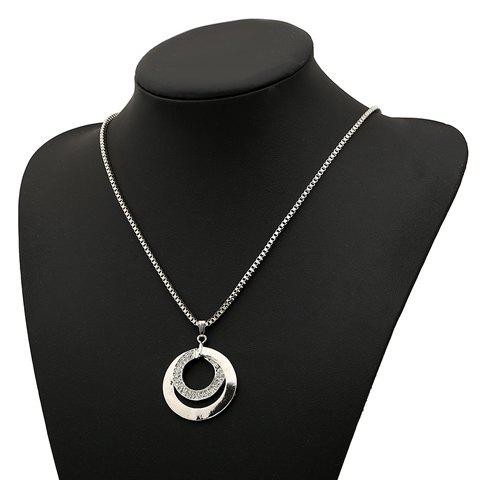 Attractive Round Shape Pendant Women's Sweater Chain Necklace