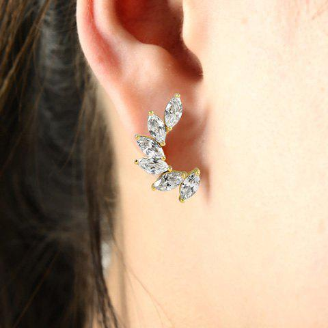Pair of Stylish Chic Women's Rhinestone Wings Earrings - SILVER