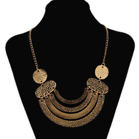 Ethnic Style Solid Color Special Shape Embellished Women's Necklace