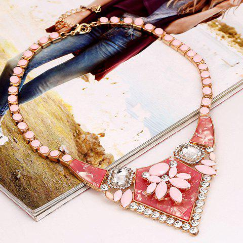 Charming Solid Color Special Shape Pendant Women's Necklace - PINK