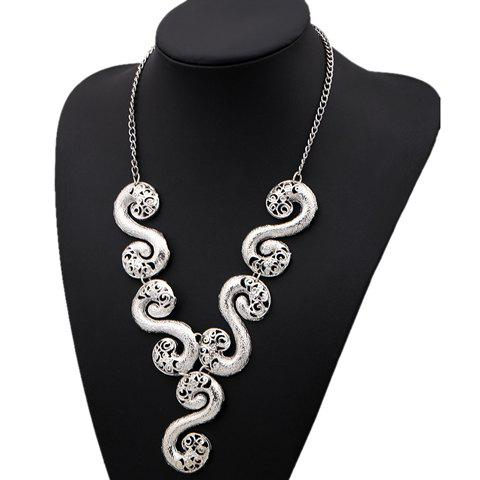 Retro Style Solid Color S Shape Embellished Women's Necklace - AS THE PICTURE