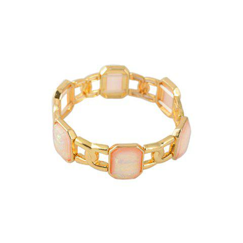 Square Resin Rhinestone Bracelet - COLOR ASSORTED