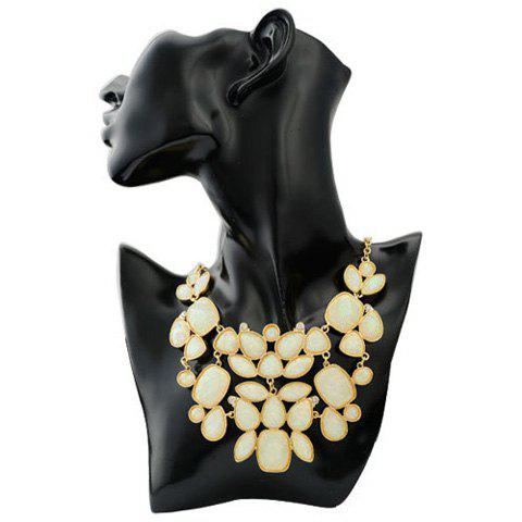Attractive Faux Gemstone Embellished Women's Necklace -  COLOR ASSORTED