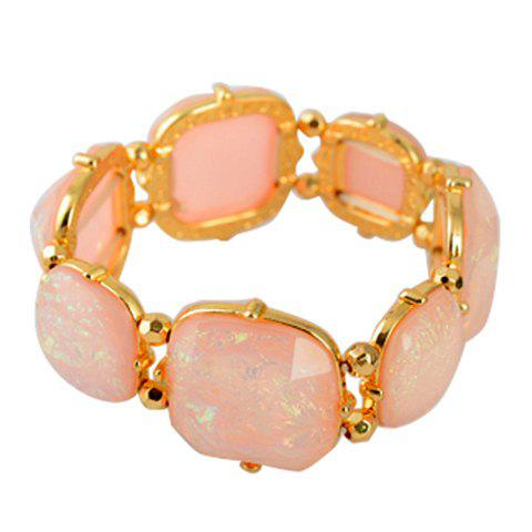 Sweet Cute Women's Rhinestone Inlaid Colored Bracelet - COLOR ASSORTED