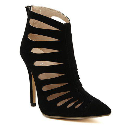 Gorgeous Stiletto Heel and Hollow Out Design Pumps For Women - BLACK 39