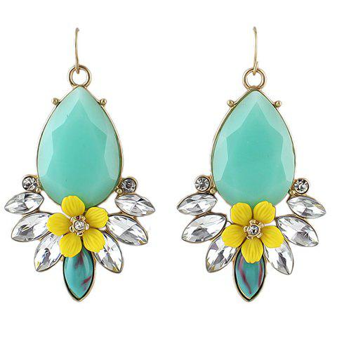 Pair of Dazzling Faux Gem Embellished Earrings For Women