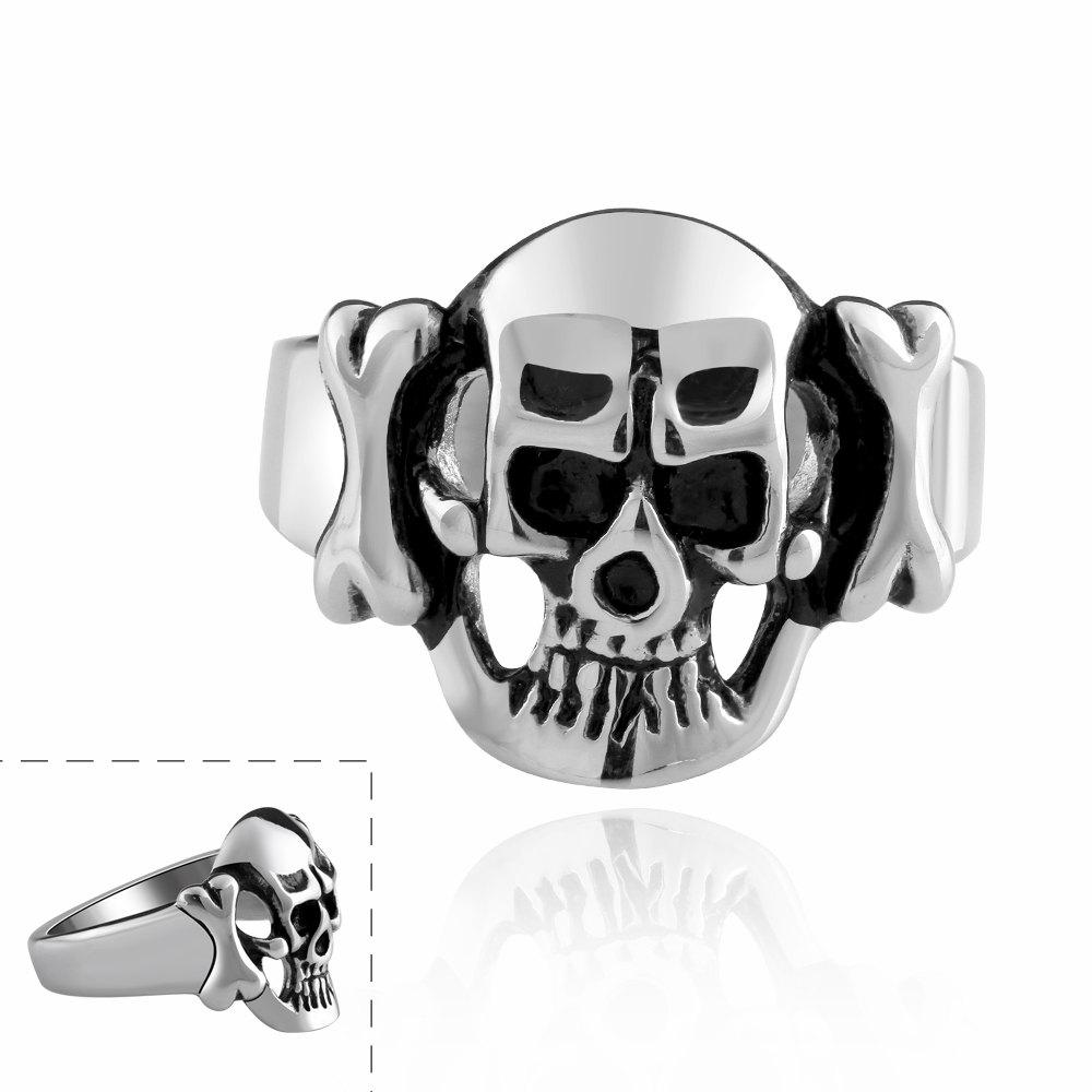 Chic Style Personalished Skull Heads Print Ring For Men