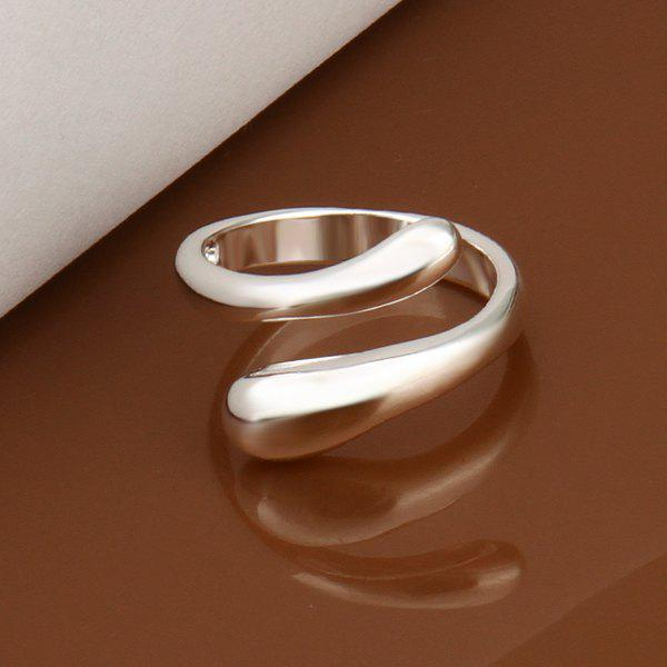 Silver Plated Openings Ring - SILVER
