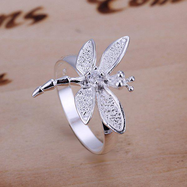 Chic Style Pave Setting Dragonfly Ring