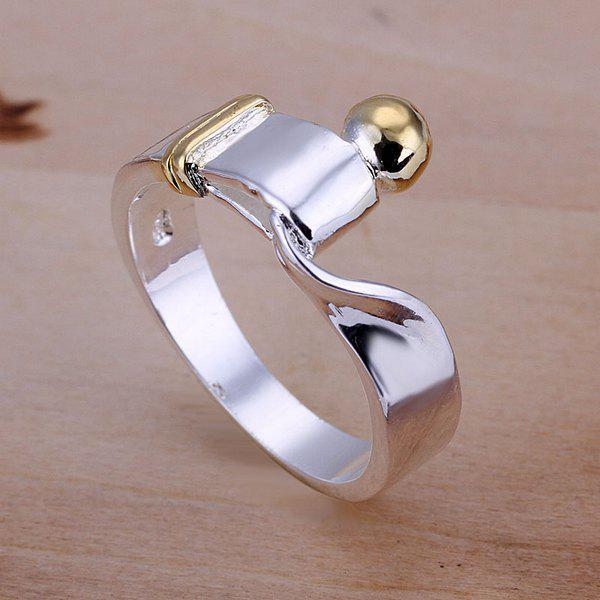 Simple Design Abstract Print Ring For Wedding
