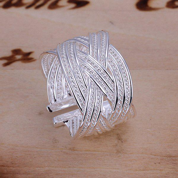 Romantic Sweet Jewelry Silver Color Braid Ring -