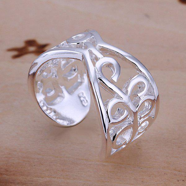 Vintage Pattern Design Silver Plated Ring -  US SIZE 8