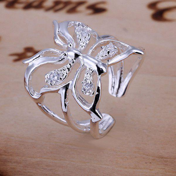 Fashionable Pave Setting Butterfly Pattern Design Ring -  US SIZE 8