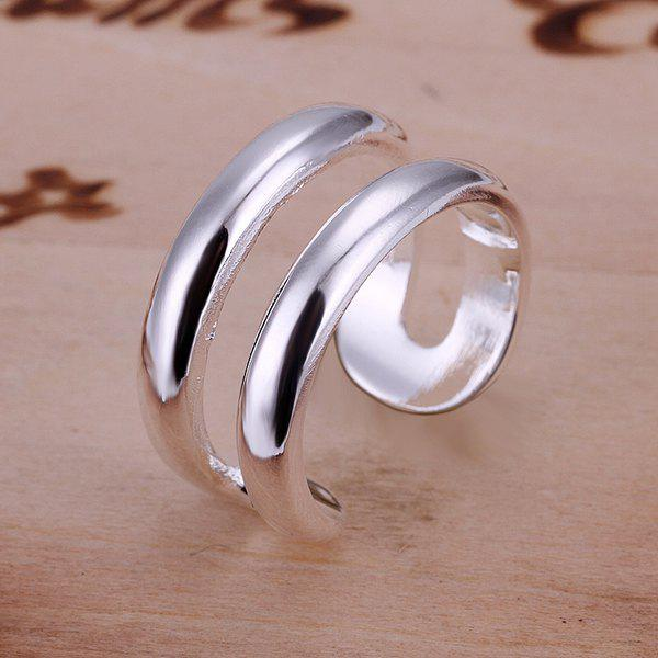 Simple Style Double Lines Openings Ring