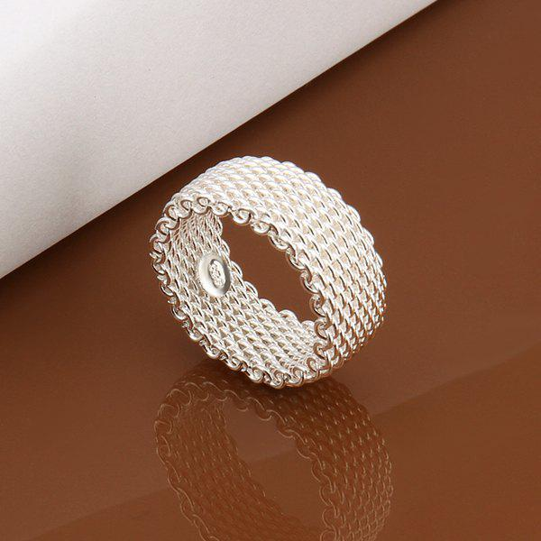 Romantic Sweet Jewelry Silver Color Nets Ring