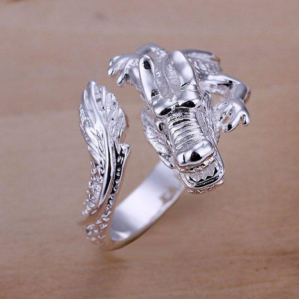 Cool Design Dragon Head Shape Opening Ring -  US SIZE 8
