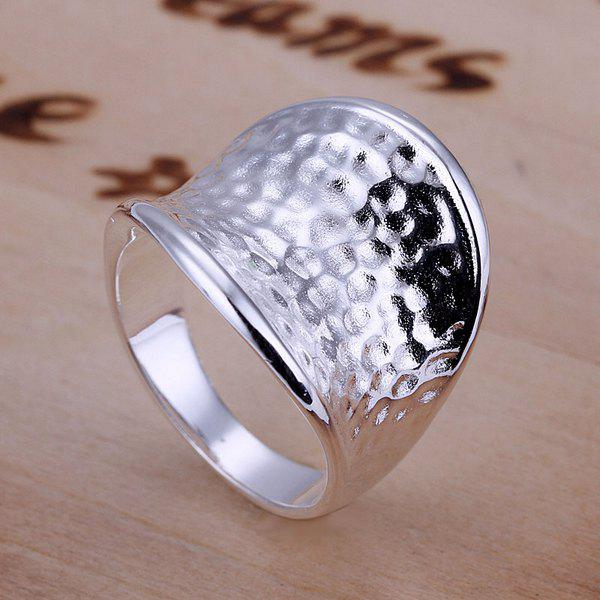 Silver Plated Thumb Ring For Thumb -  US SIZE 8