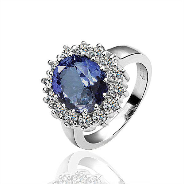 Faux Sapphire Alloy Ring -  US SIZE 8