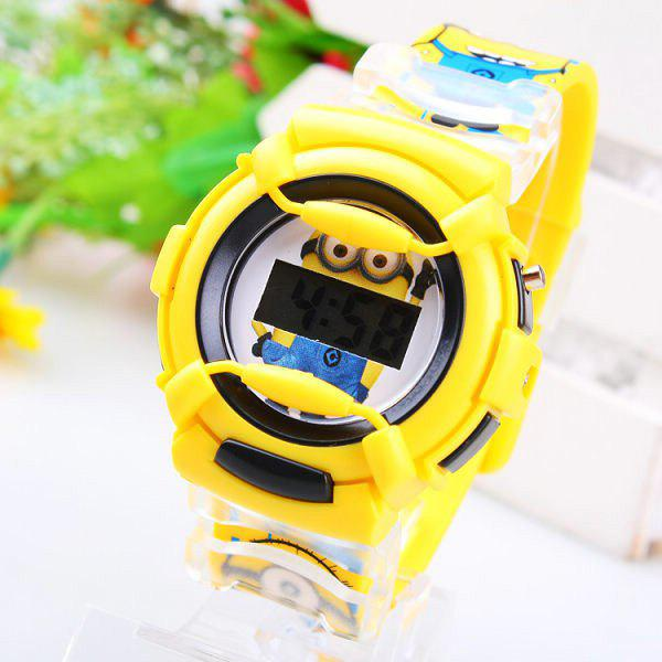 Christmas Present Children LED Watch Bee-do Cartoon Round Dial Rubber Band