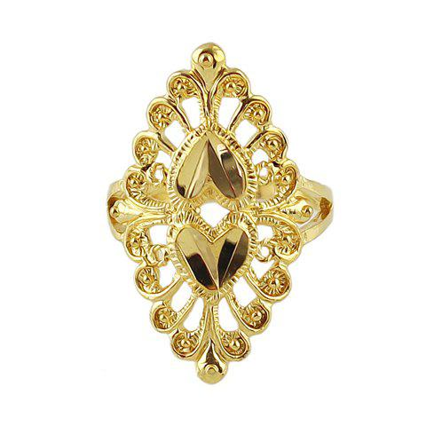 Attractive Solid Color Special Shape Openwork Women's Ring - GOLDEN ONE-SIZE