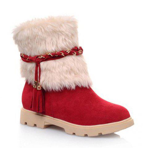 Simple Cute Winter Leather Women Boots 2014 Snow Platform Suede Boot For