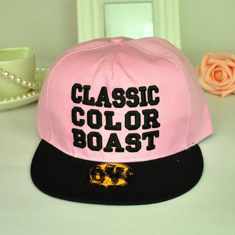 Chic Letters Embroidery Solid Color Baseball Cap For Women - PINK