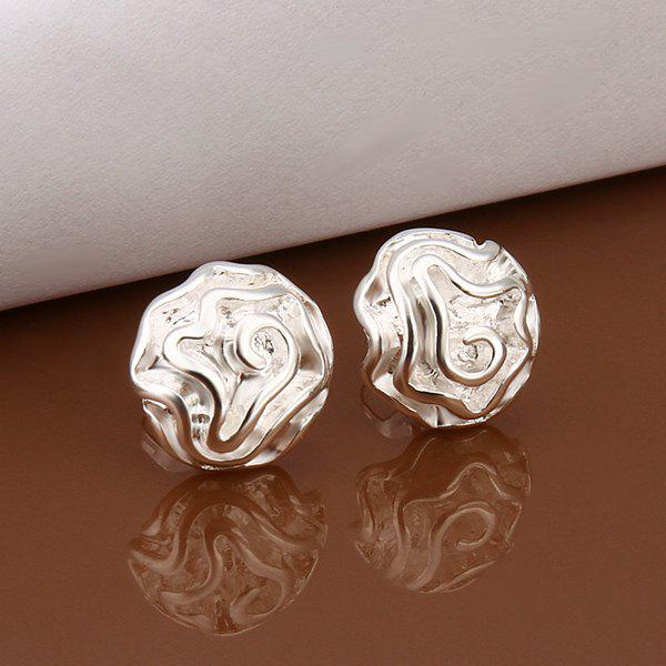 Pair of Flower Stud Earrings -  DIAMETER:1.2CM