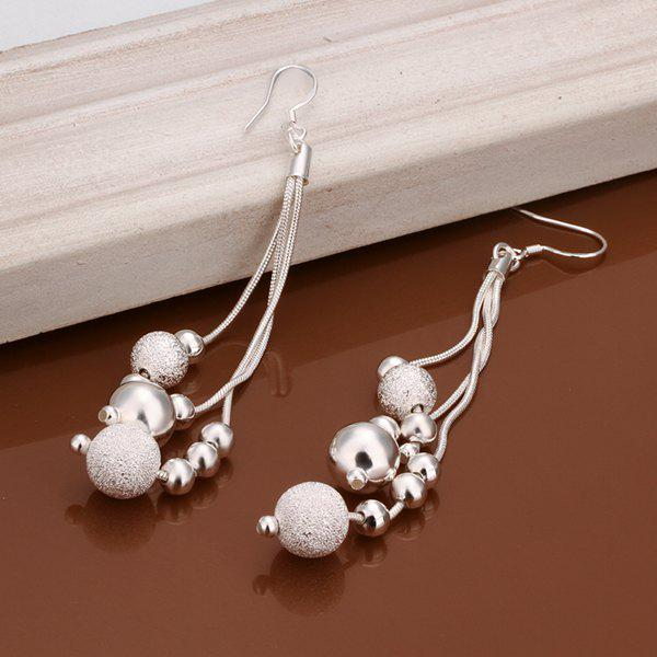 Pair of Beads Chain Tassel Drop Earrings -  LENGTH:10CM