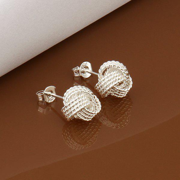 Pair Of Women's Cute Tennis Stud Earrings -  DIAMETER:1CM