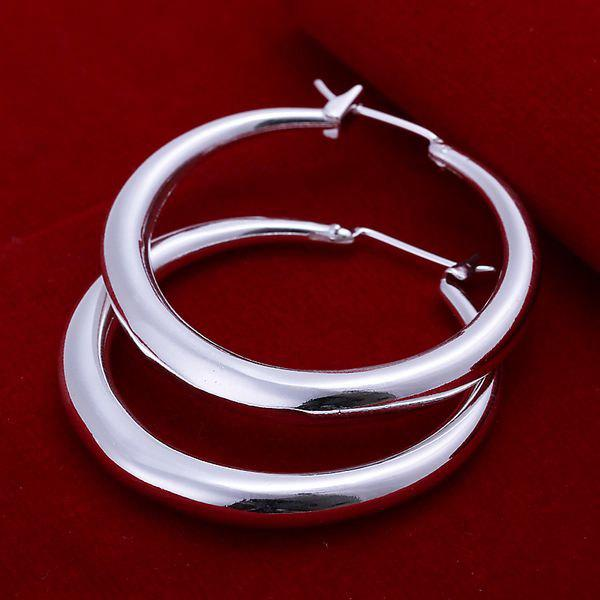 Pair Of Women's Trendy Hoop Earrings -  DIAMETER 3.4CM