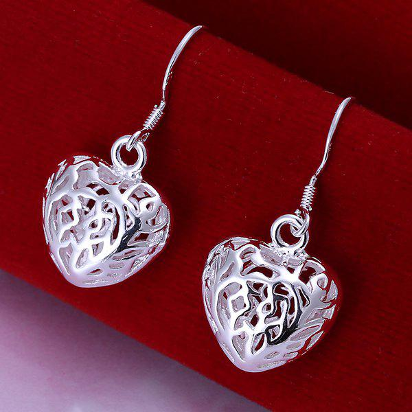 Pair Of Women's Small Solid Heart Earrings
