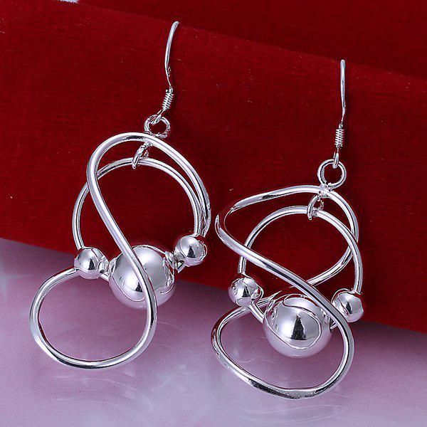 Pair of Infinity Hanging Bead Earrings -  5.1CM*2.0CM