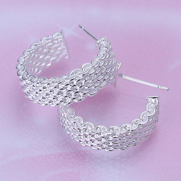 Pair Of Women's Net Stud Earrings