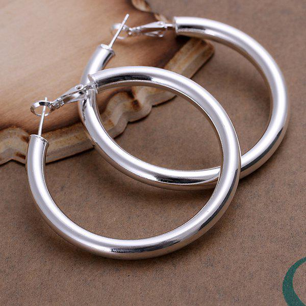 Pair Of Women's Casual Round Openwork Earrings