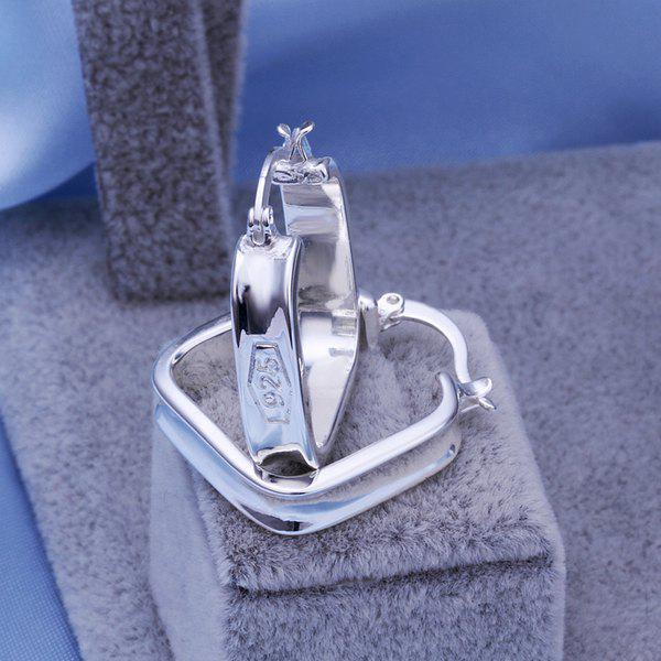 Pair Of Women's Stylish Square Clip Earrings