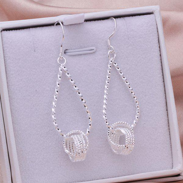 Pair of Teardrop Hanging Tennis Earrings -