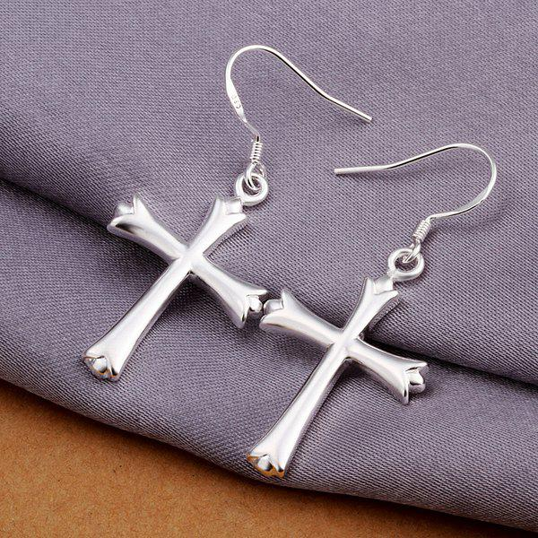 Pair Of Women's Trendy Cross Earrings